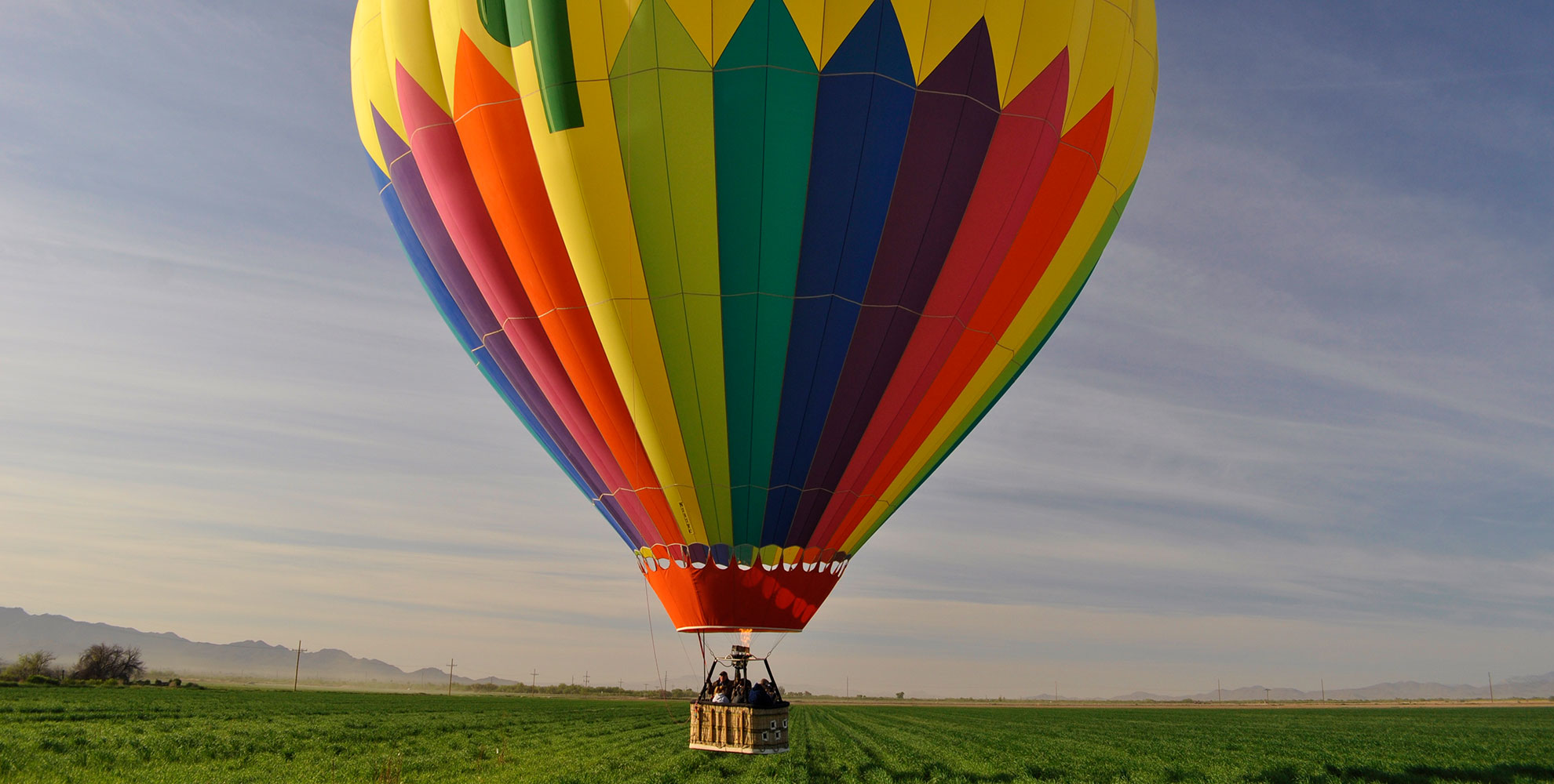 large colorful hot air balloon